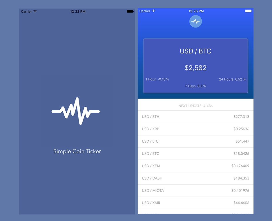 Simple Coin Ticker App